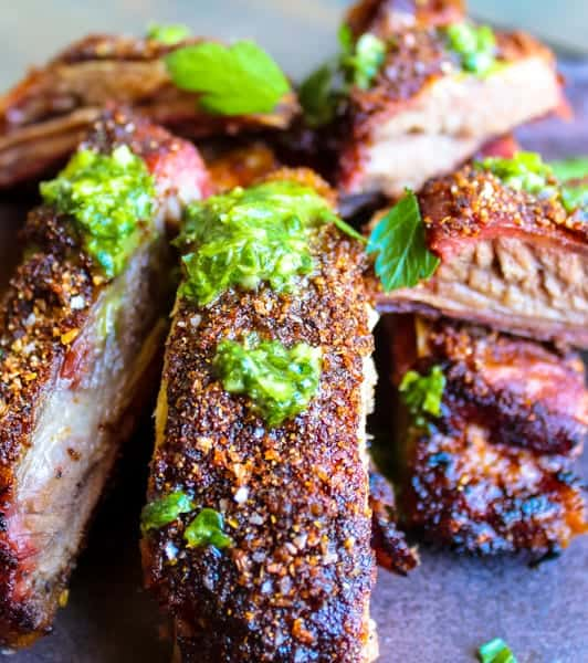 Slow Smoked Lamb Ribs with Fennel Rub