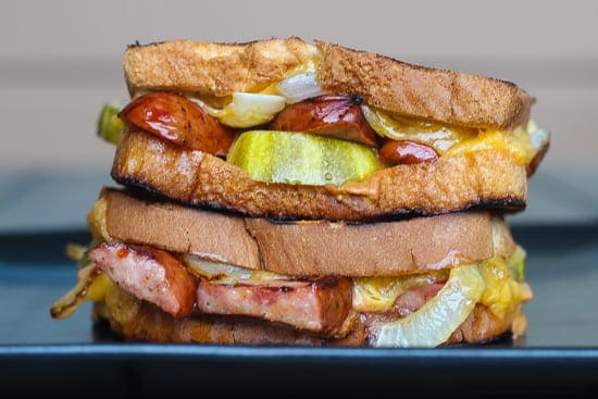 grilled cheese with andouille