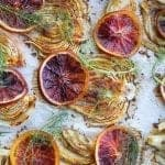 roasted fennel topped with citrus