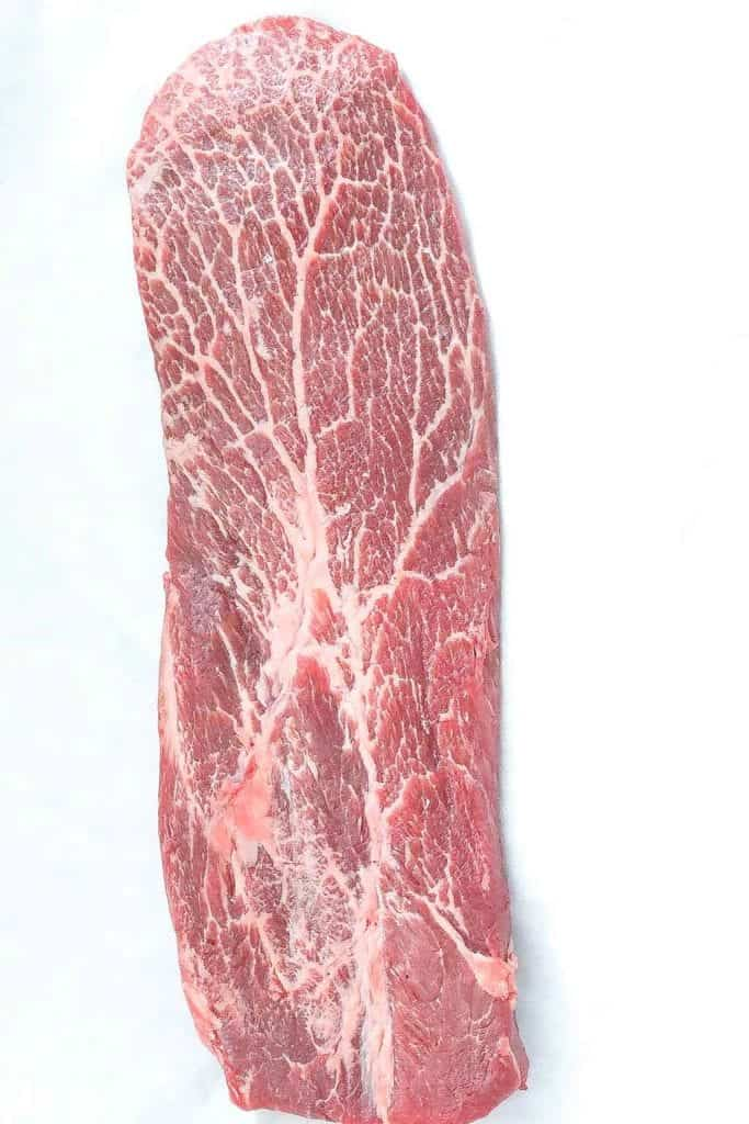 whole raw flat iron steak