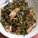 collard greens with smoked turkey in a bowl
